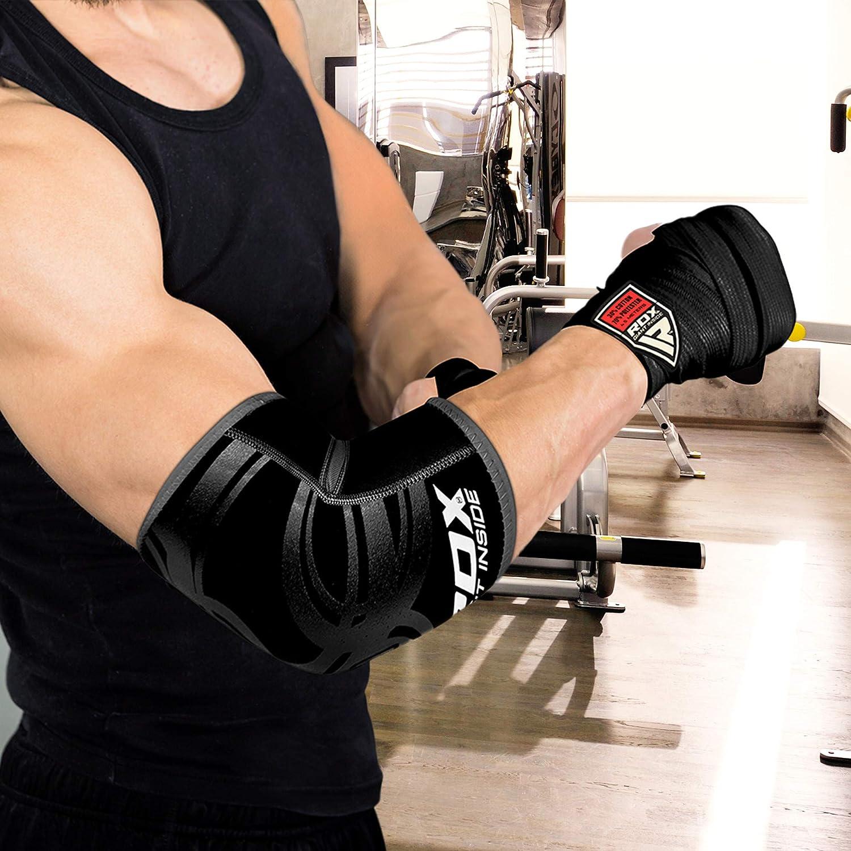 RDX Neopreno Boxeo MMA Codera Baloncesto Soporte Vendaje Codo Protectors Venda