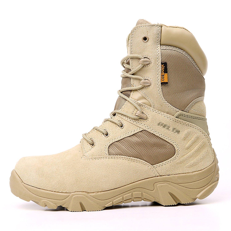 QMFIVE Tactical Stiefel, High Top Anti-Rutsch Stiefel Outdoorschuh Herren