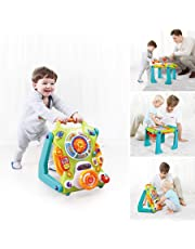 Hola Toys - 3-in-1 Baby Walker and Activity Table, Walker
