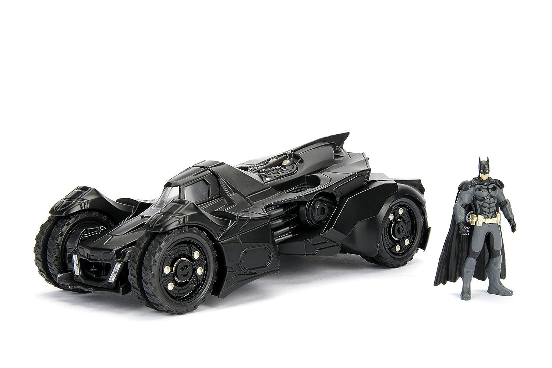 DC Comics Batman 2015 Arkham Knight Batmobile Batman Metals Die cast collectible toy vehicle with figure