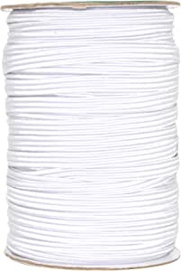 Mandala Crafts Colored Polyester Rubber Knit Flat Elastic Stretch Band Cord Spool Roll for Sewing Clothes Waistbands 3//8 Inch 10mm 50 Yards, White