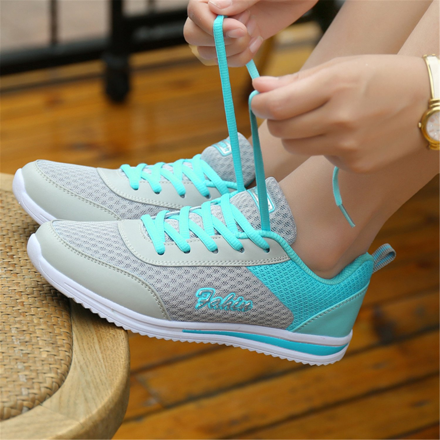 Amazon.com | sdferyujaw New New Summer Zapato Women Breathable Mesh Zapatillas Shoes for Women Network Soft Casual Shoes | Flats
