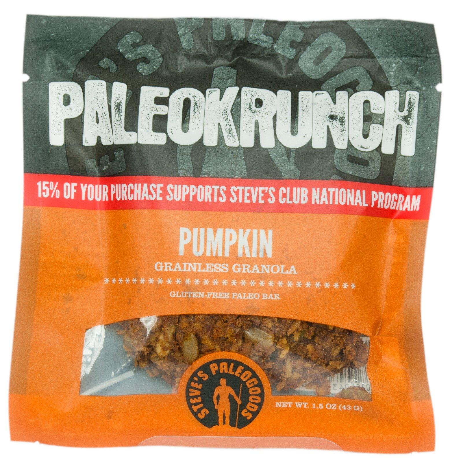 Steve's PaleoGoods Pumpkin PaleoKrunch Bar 1.5oz (case of 6)