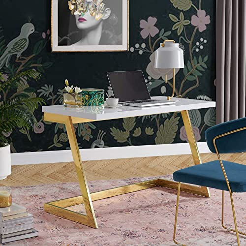 Kali White/Gold Writing Desk