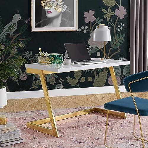 Kali White/Gold Writing Desk