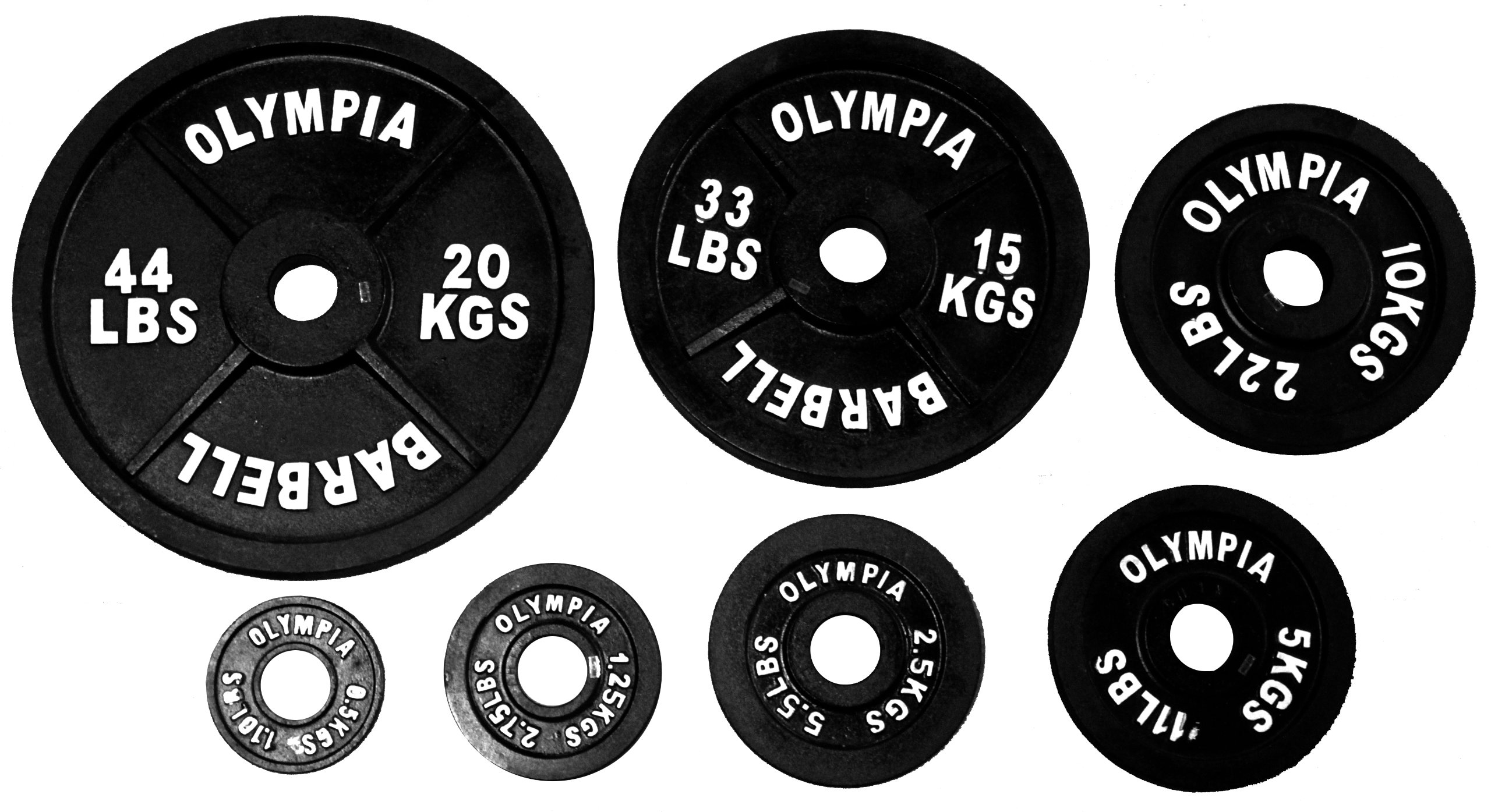 Ader Olympic 140 Kgs (308 Lbs) Black Set with Olympic Chrome Bar & Spring Collars