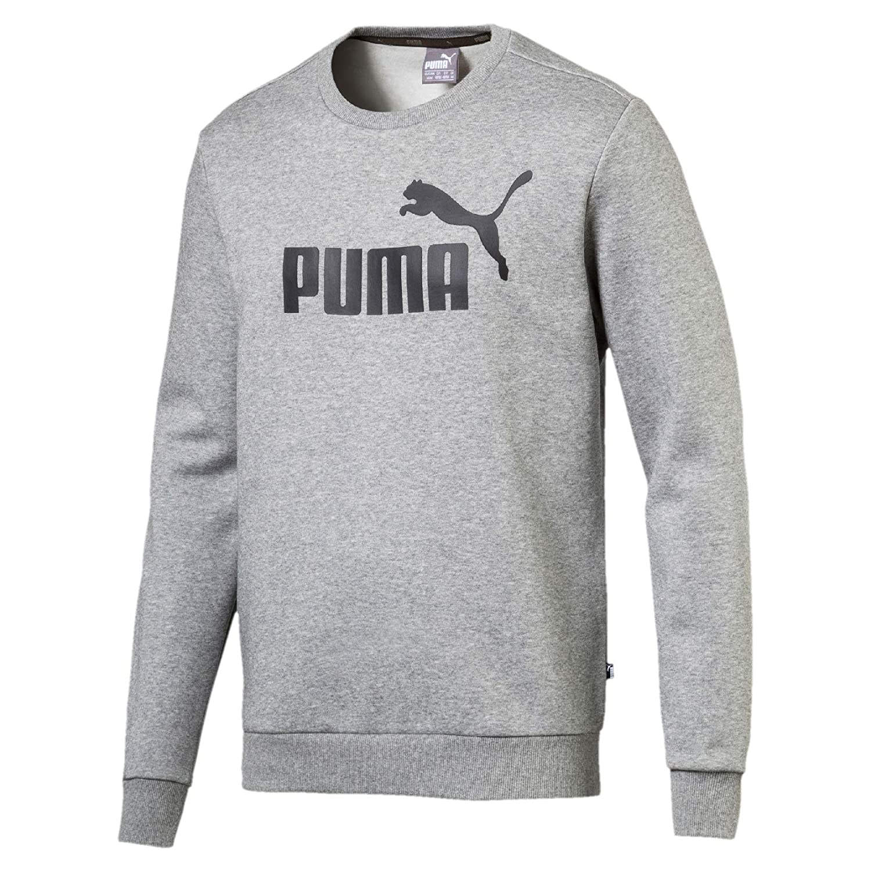 Puma ESS Crew Sweat FL Big Logo Sudadera, Hombre