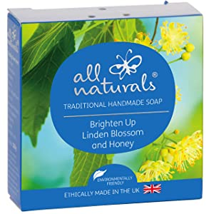 All Naturals, Organic Soap Linden Blossom. Gentle Olive Oil Face and Body Wash for Sensitive Skin with Shea Butter, Jojoba, Rosehip Oils and Premium Essential Oils, 3.5 oz