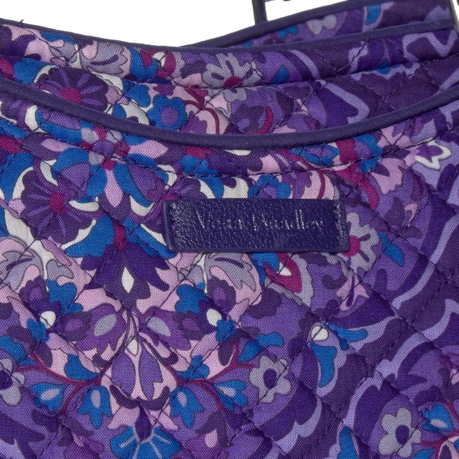 Vera Bradley Women's Iconic Signature Cotton Glenna Satchel Purse, Desert Floral, One Size Regal Rosette