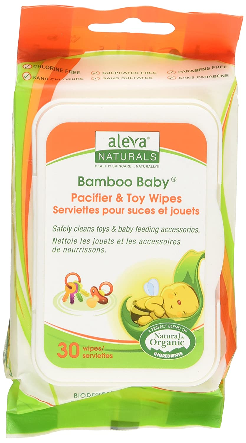 Aleva Naturals Bamboo Baby Pacifier and Toy Wipe Everready First Aid 16792-NEW