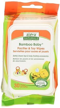 Aleva Naturals - Chupete de bambú y toallita de juguete: Amazon.es ...