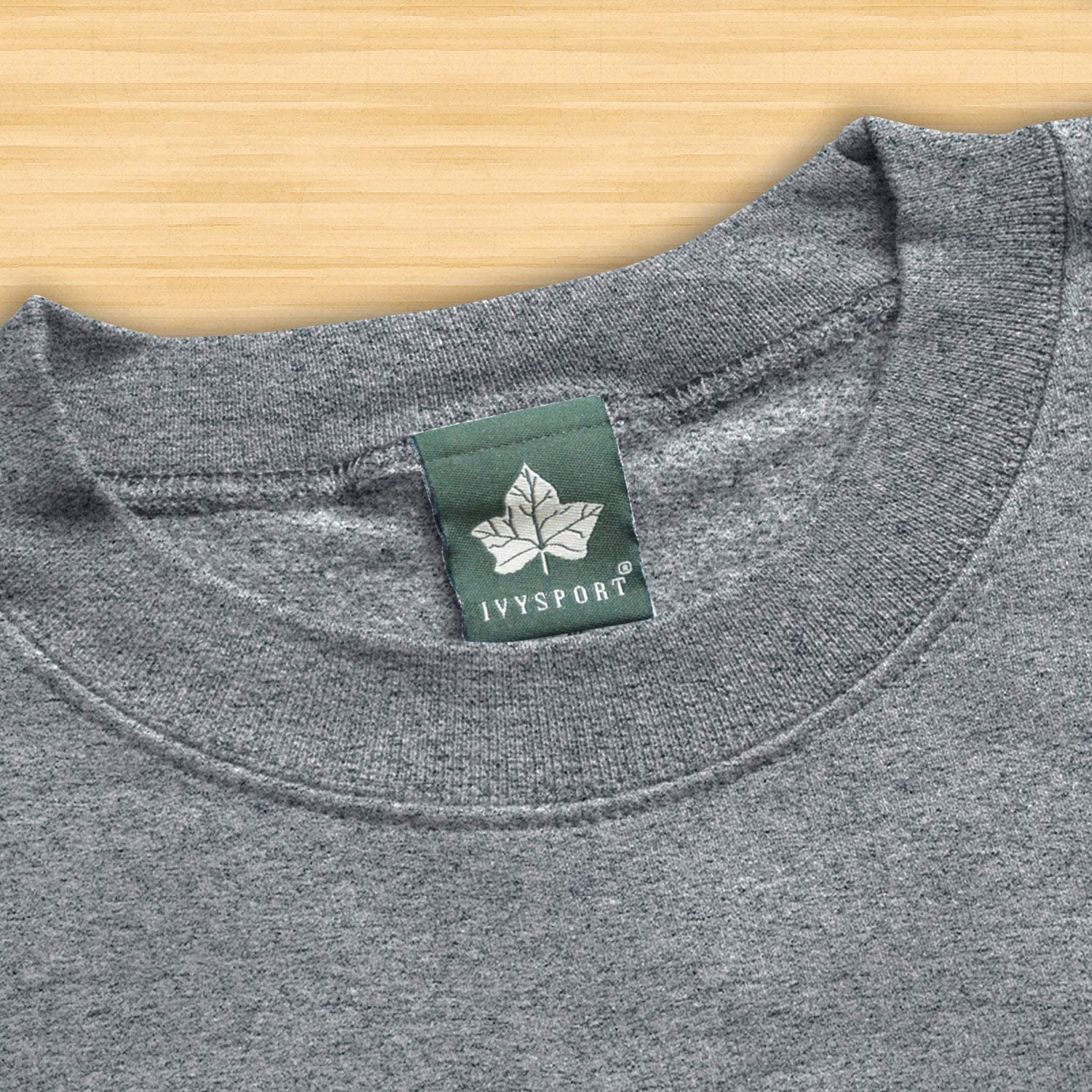 Ivysport Crewneck Sweatshirt Classic Logo Premium Grey Heavyweight Cotton Blend