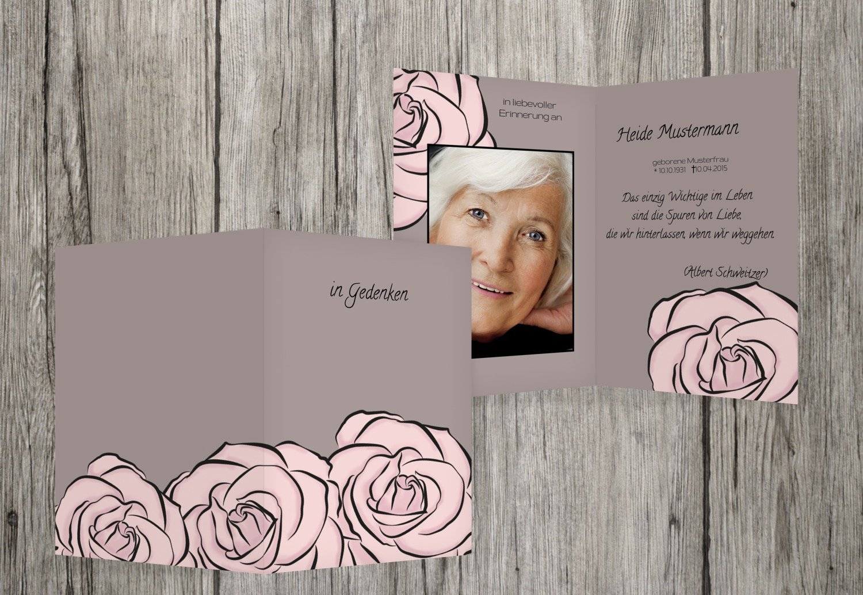 Barato sterbe imágenes rosas, marrón, amarillo, 80 Karten
