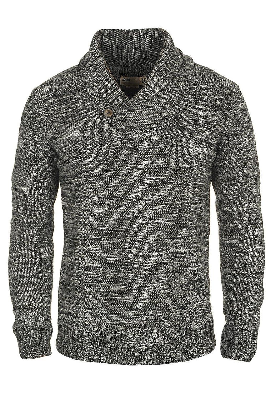 Solid Shawl Collar Pullover PRIOR, Color: Black