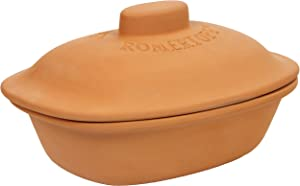 Romertopf by Reston Lloyd Trend Series Glazed Natural Clay Cooker, Large, 4.1-Quart