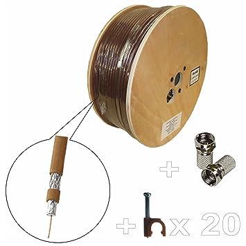 20 m RG6 realzó autosoma CABLE COAXIAL para antena satélite ...