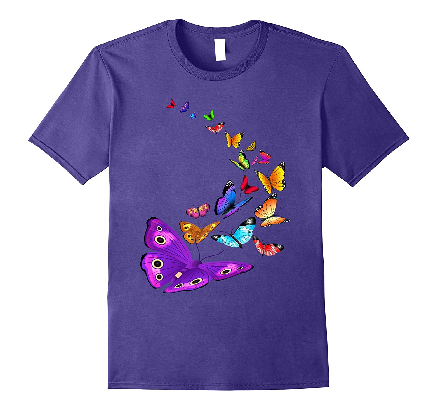 Butterfly T Shirt Flying Butterfly Wings Shirt-Rose