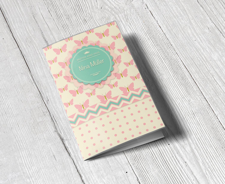 Mutterpass ohne Personalisierung, Eule Mutterpassh/ülle 3-teilig Schmetterling Eule Mutterpass H/ülle Schwangerschaft Geschenkidee