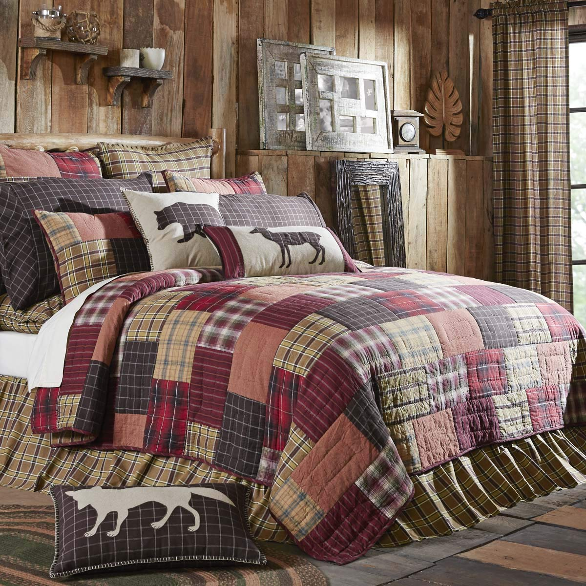 VHC Brands Rustic & Lodge Bedding - Wyatt Red Quilt, Queen, by VHC Brands (Image #2)