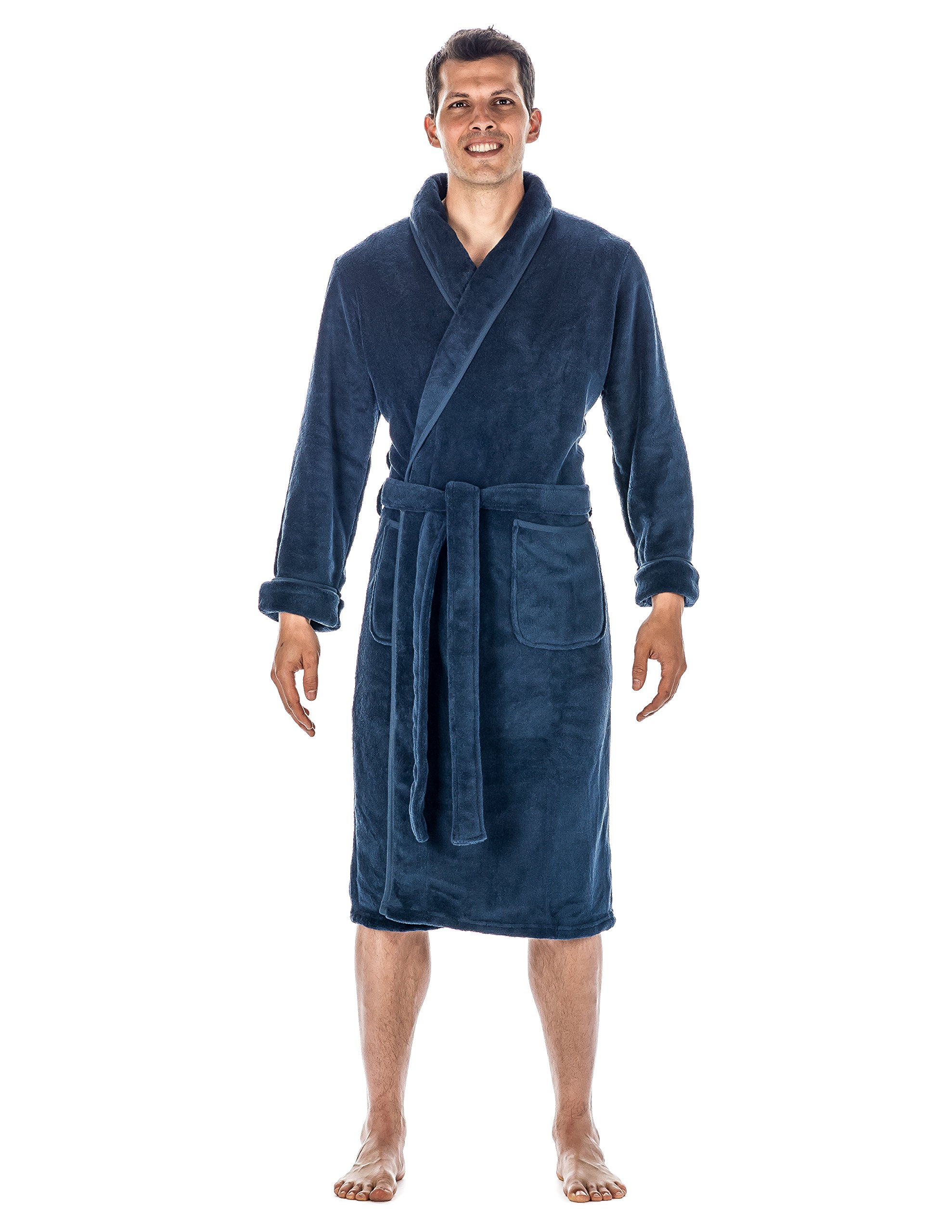 Noble Mount Mens Premium Coral Microfleece Plush Spa Bath Robe product image 2e0a71cfd
