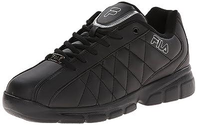 b700821864 Fila Men's Fulcrum 3 Training Shoe, Black/Black/Metallic Silver, ...