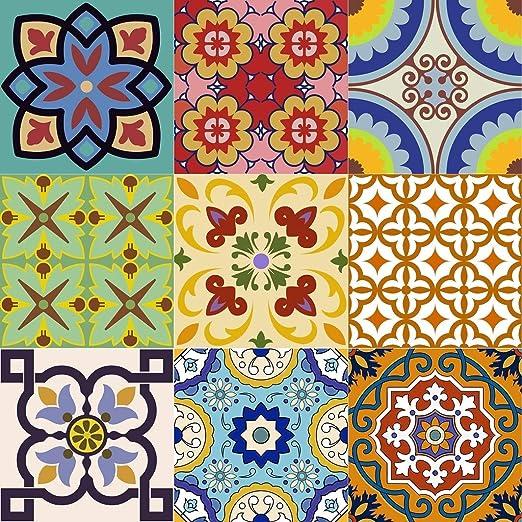 Tile Vinyl Set of 24 Kitchen Decals DIY Tile Sticker Kitchen Bathroom Stairs HA7