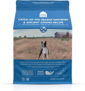 Open Farm Catch-of-The-Season Whitefish & Ancient Grains Dry Dog Food, Wild-Caught Whitefish Recipe with Wholesome Grains and No Artificial Flavors or Preservatives, 4 lbs