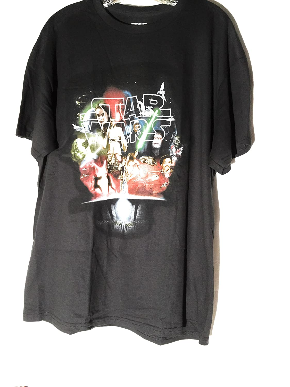 Star Wars movies Black T-shirt, large