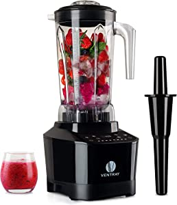 Ventray Pro 600 High Power Professional Blender 1500 watt 8-Speed 5 Programs 68 OZ High Speed Mixer
