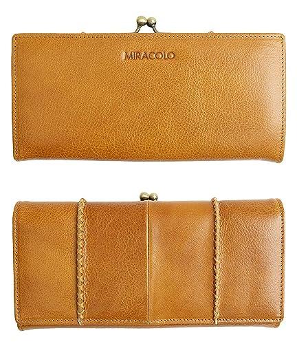 19efceaf7c10 MIRACOLO レディース 財布 大容量 長財布 がまぐち 本革 レザー 二つ折り イタリアンレザー 人気