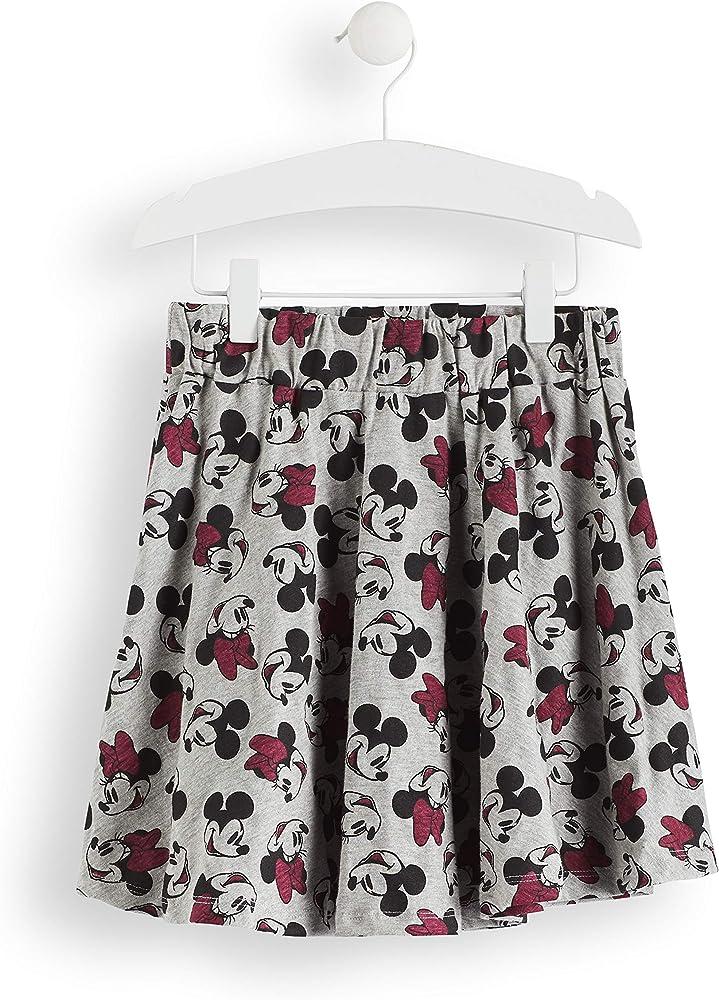 Marca Amazon - RED WAGON Falda Estampado Minnie Mouse, Gris (Grey ...