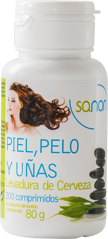 Sanon Levadura de Cerveza Piel, Pelo y Uñas - 3 Paquetes de ...