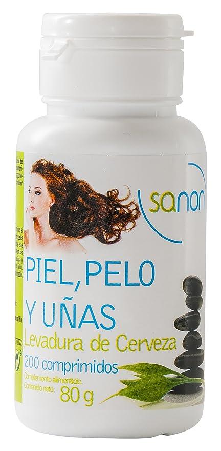 Sanon Levadura de Cerveza Piel, Pelo y Uñas - 3 Paquetes de 200 Cápsulas
