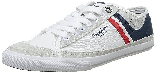 be29ec7e2 Pepe Jeans London TENIS PUNCHING - zapatilla deportiva de lona hombre,  color blanco, talla 46: Amazon.es: Zapatos y complementos