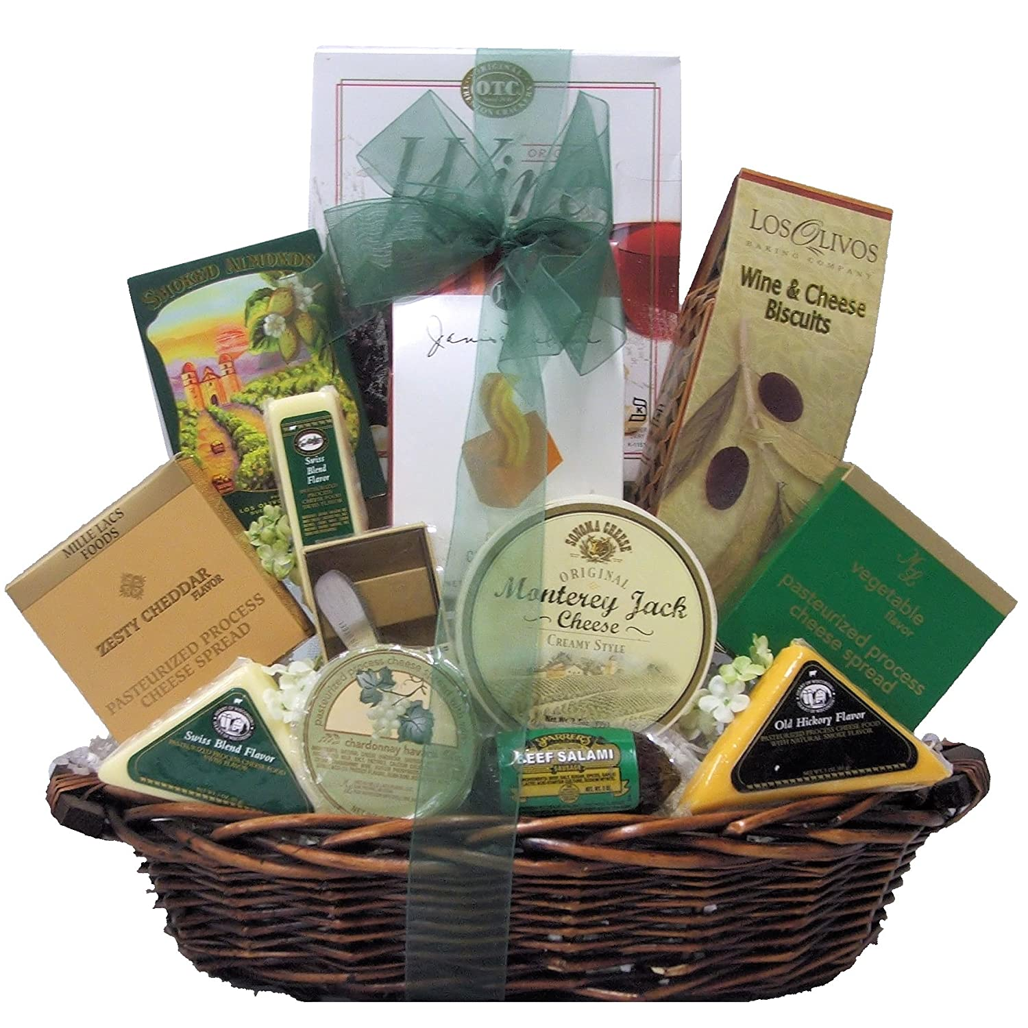 Amazon.com : Great Arrivals Gourmet Cheese Gift Basket, Classic : Candy : Grocery & Gourmet Food