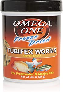 Omega One Freeze Dried Tubifex Worms