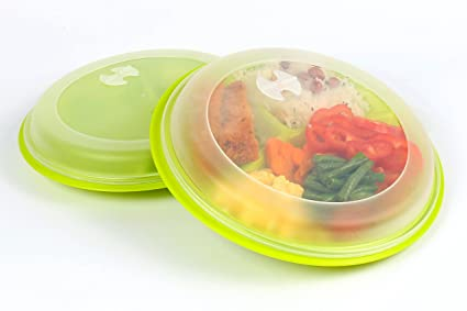 Portion control meal prep plate with Lid (2)  sc 1 st  Amazon.com & Amazon.com | Portion control meal prep plate with Lid (2): Dinner Plates