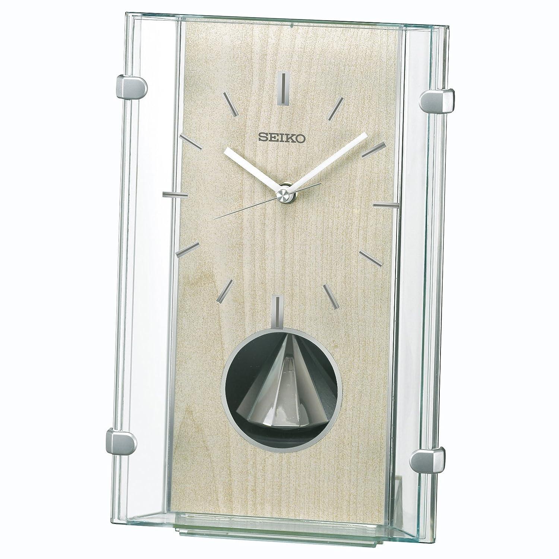 セイコー クロック 置き時計 電波 アナログ 回転飾り 薄緑 BY240M SEIKO B01MQT1EDV