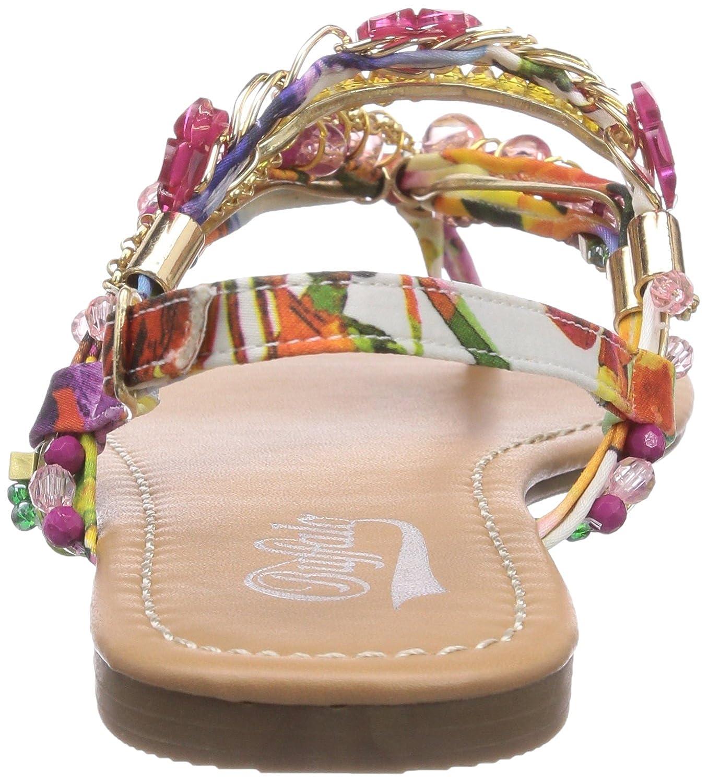 Buffalo Shoes 313560 JH4128, Damen Zehentrenner, Mehrfarbig (PURPLE 97), 42 EU