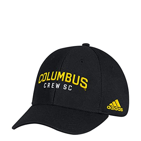 adidas MLS Columbus Crew Adult Men Wordmark Mesh Structured Adjustable Hat 3a7d3a8f8771