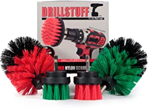 Drill Brush Cleaning Brush Attachments for Drill - Oven Cleaning Brush - Rotary Scrub Brush For Kitchen Sink - Concrete, Masonry Brush - Patio, Deck, Garden Scrub Brushes - Tile and Grout Cleaner