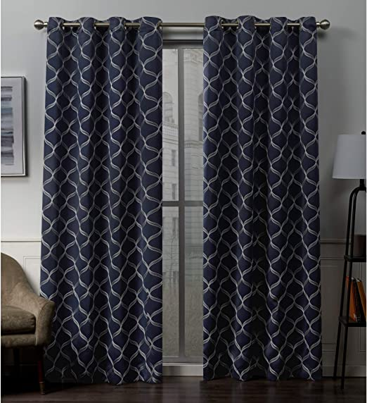 Amazon Com Exclusive Home Curtains Amelia Embroidered Woven
