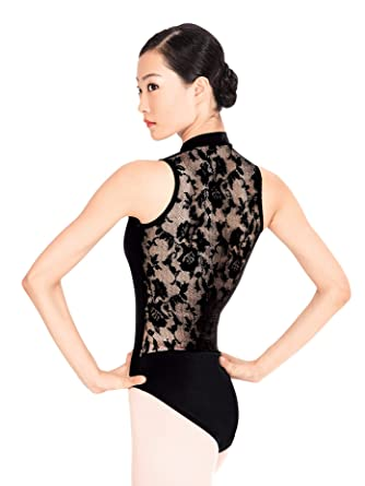 0bb8a3057f Amazon.com  Adult Lace Back Tank Leotard N8699  Clothing