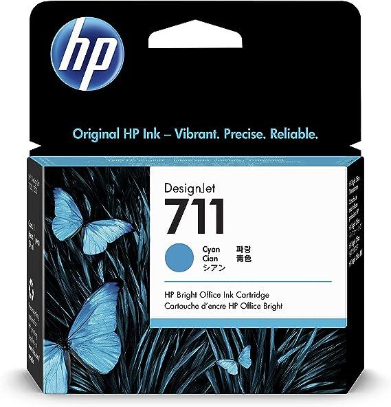 GYBN 711 Ink Cartridge for HP T520 Large Capacity Color Printer Cartridge Designjet T120 Cartridge CZ133A Plotter Ink-Blue