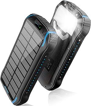 Aonidi 26800mAh Solar Portable Power Bank