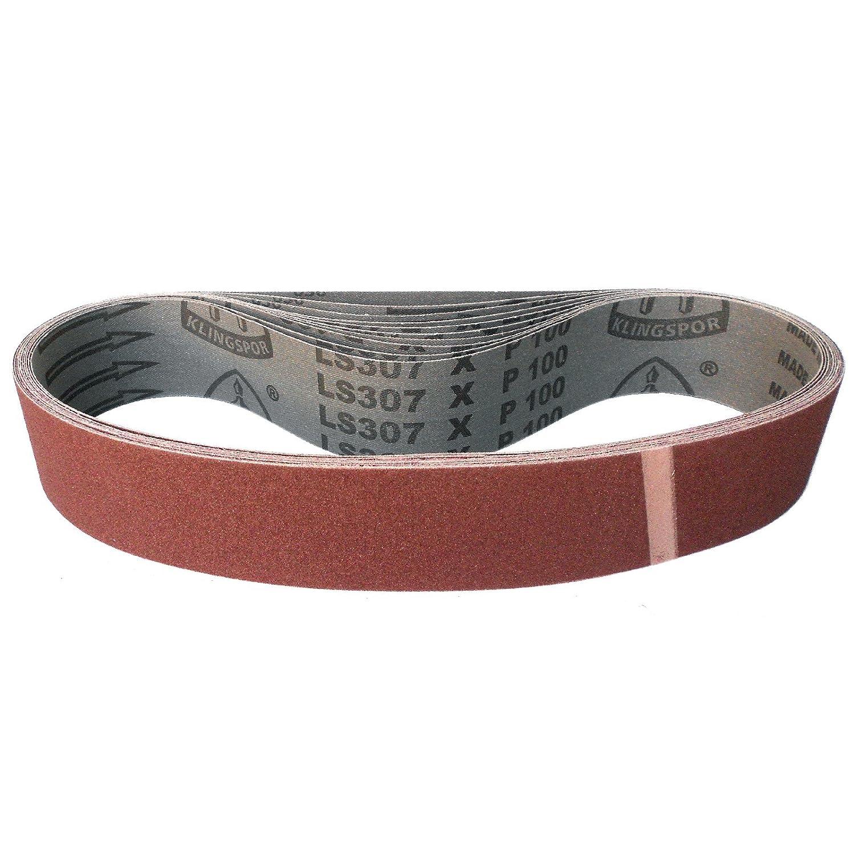 Klingspor LS 307 X Schleifband K/örnung: 180 10 St/ück 45 x 710 mm