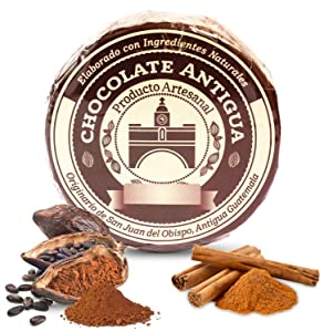 Chocolate Antigua Drink Mix From Guatemala Made With Roasted Criollo Cacao Beans and Spices Simply Delicious a Most Perfect Comfort Drink or Sweet Snack (Cinnamon)