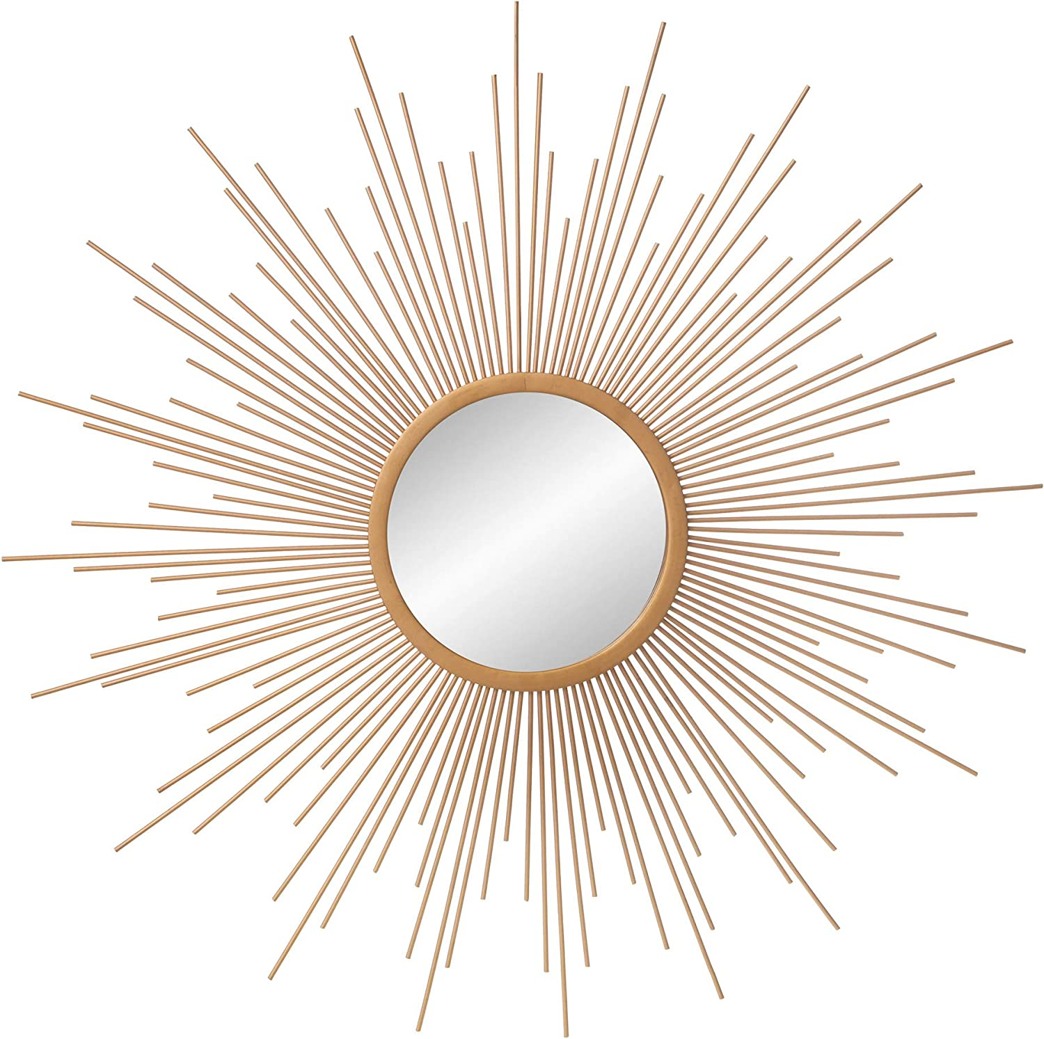 "30"" Gold Spoked Sunburst Wall Accent Mirror"