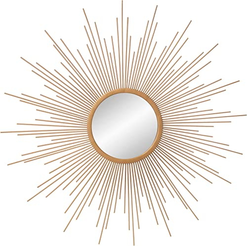 30 Gold Spoked Sunburst Wall Accent Mirror