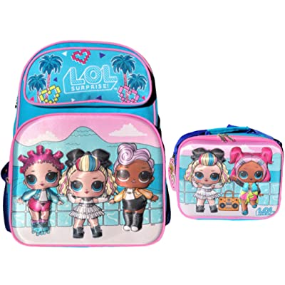 "L.O.L. Surprise! Limited Edition Supreme BFF's 16"" 3D Backpack and Insulated Lunch Bag 